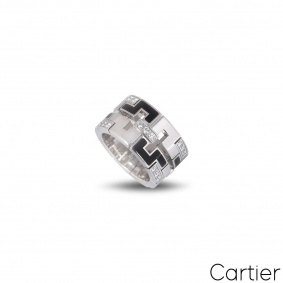 Cartier White Gold Le Baiser Du Dragon Ring
